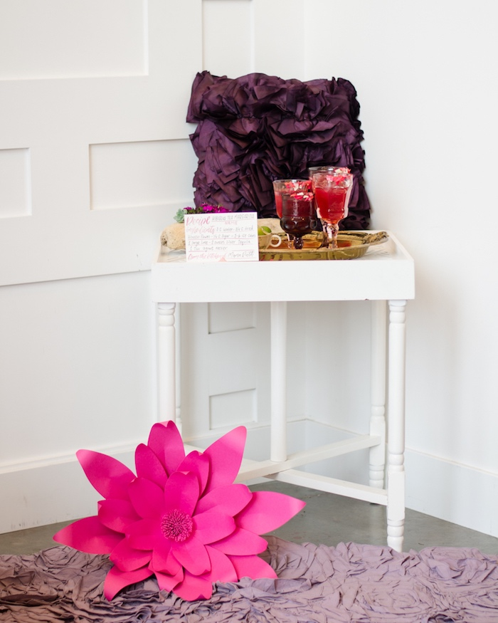 Drink stand from a Tea & Toast Mother's Day Party on Kara's Party Ideas | KarasPartyIdeas.com (35)