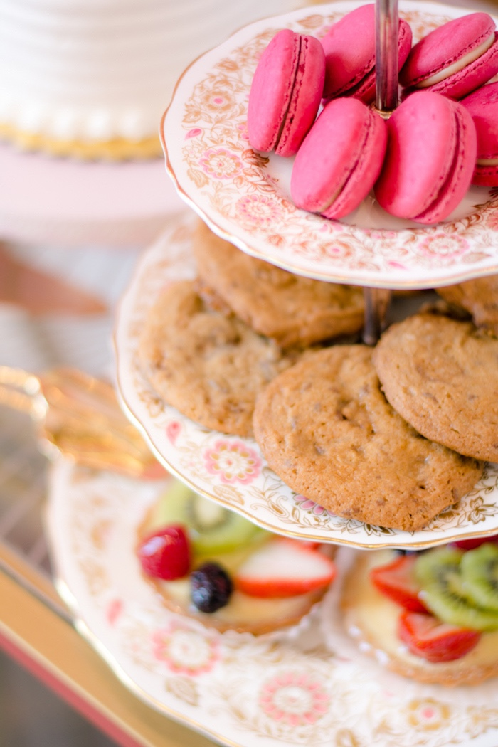 Hot pink macarons + cookies from a Tea & Toast Mother's Day Party on Kara's Party Ideas | KarasPartyIdeas.com (33)