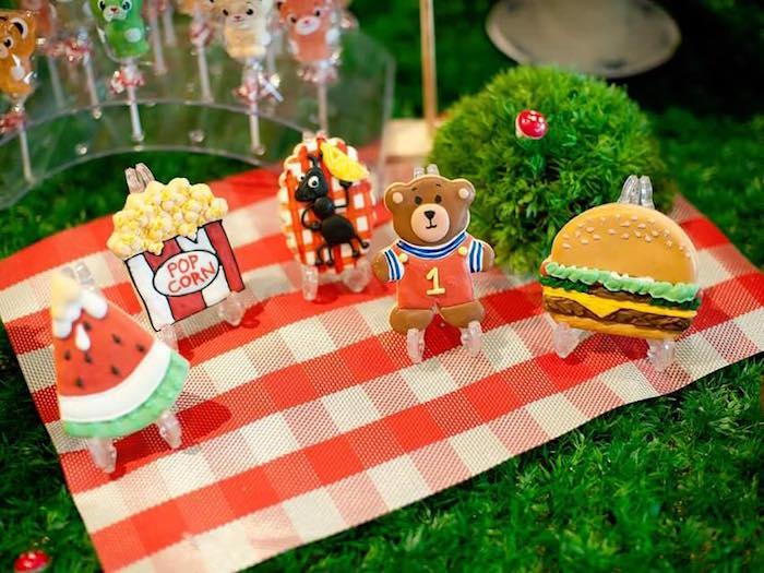Sugar cookies from a Teddy Bear Picnic Birthday Party on Kara's Party Ideas | KarasPartyIdeas.com (12)