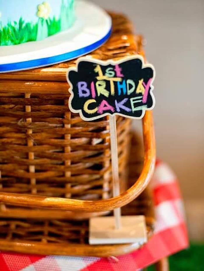 Chalkboard label from a Teddy Bear Picnic Birthday Party on Kara's Party Ideas | KarasPartyIdeas.com (11)