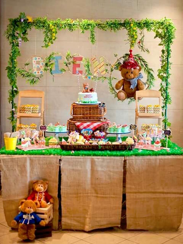 Teddy Bear Picnic Birthday Party on Kara's Party Ideas | KarasPartyIdeas.com (10)