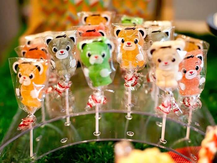 Teddy Bear lollipops from a Teddy Bear Picnic Birthday Party on Kara's Party Ideas | KarasPartyIdeas.com (19)