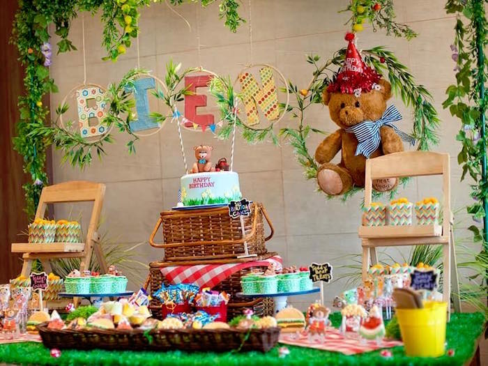 Detail from a Teddy Bear Picnic Birthday Party on Kara's Party Ideas | KarasPartyIdeas.com (17)