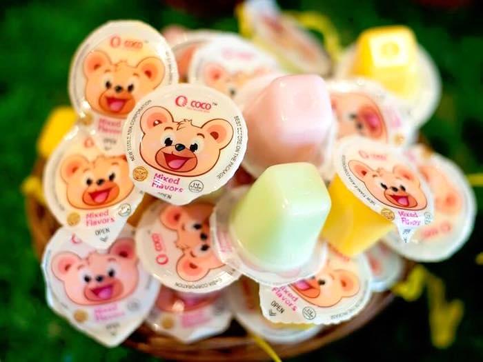 Candy cups from a Teddy Bear Picnic Birthday Party on Kara's Party Ideas | KarasPartyIdeas.com (14)