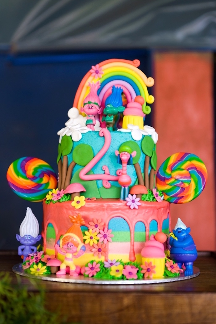 Dreamworks Trolls Cake from a Kara's Party Ideas | KarasPartyIdeas.com (12)