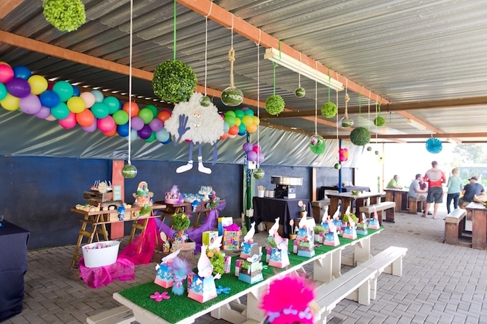 Partyscape from a Trolls Birthday Party on Kara's Party Ideas | KarasPartyIdeas.com (9)