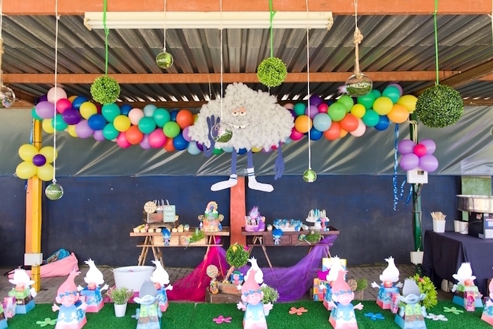Trolls Birthday Party via Karas Party Ideas KarasPartyIdeas.com6_ elephant birthday cake decorations 6 on elephant birthday cake decorations