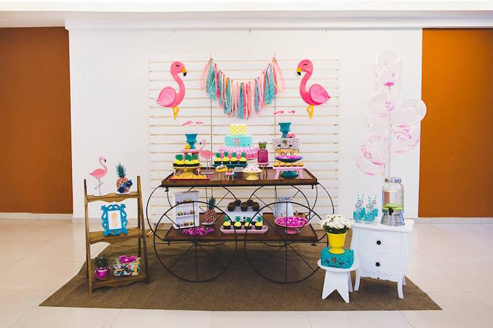 Tropical Flamingo Birthday Party on Kara's Party Ideas | KarasPartyIdeas.com (22)