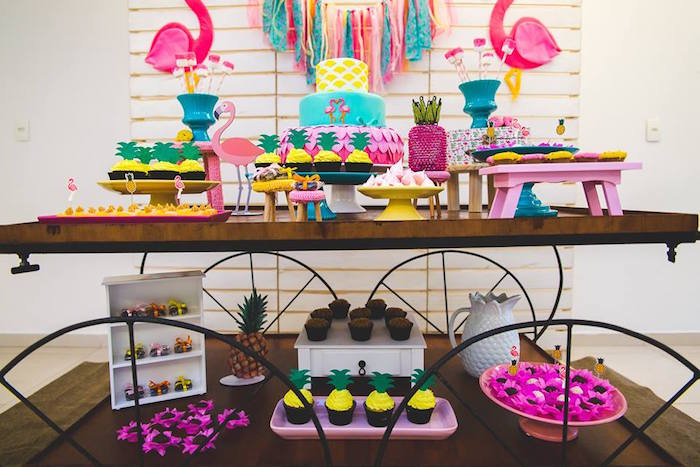 Desserts from a Tropical Flamingo Birthday Party on Kara's Party Ideas | KarasPartyIdeas.com (18)