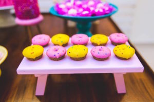 Mini doughnuts from a Tropical Flamingo Birthday Party on Kara's Party Ideas | KarasPartyIdeas.com (17)