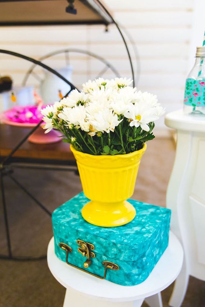 Blooms from a Tropical Flamingo Birthday Party on Kara's Party Ideas | KarasPartyIdeas.com (31)