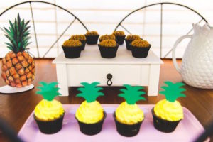 Cupcakes from a Tropical Flamingo Birthday Party on Kara's Party Ideas | KarasPartyIdeas.com (12)