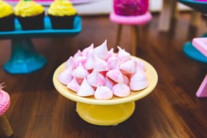 Meringue kisses from a Tropical Flamingo Birthday Party on Kara's Party Ideas | KarasPartyIdeas.com (11)