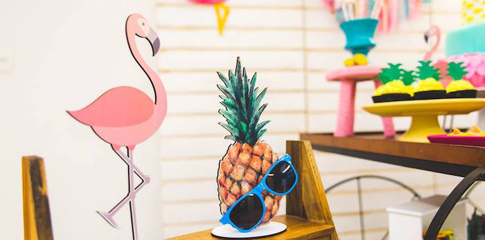 Tropical Flamingo Birthday Party on Kara's Party Ideas | KarasPartyIdeas.com (1)