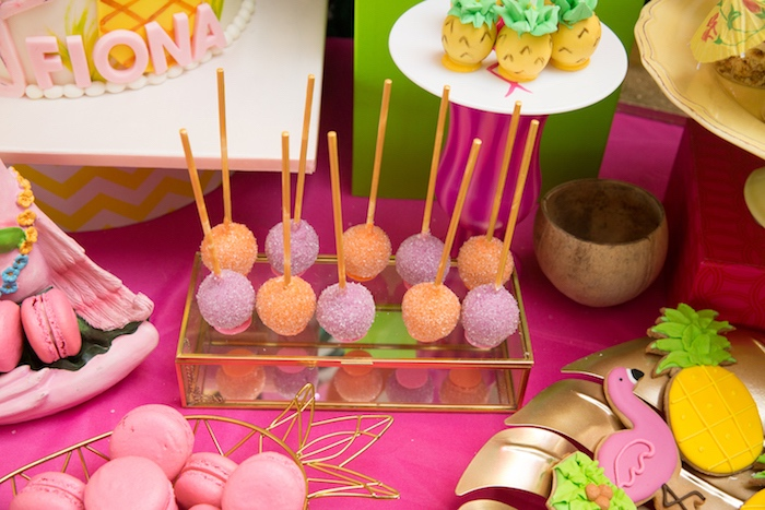 Cake pops from a Tropical Flamingo Paradise Birthday Party on Kara's Party Ideas | KarasPartyIdeas.com (18)