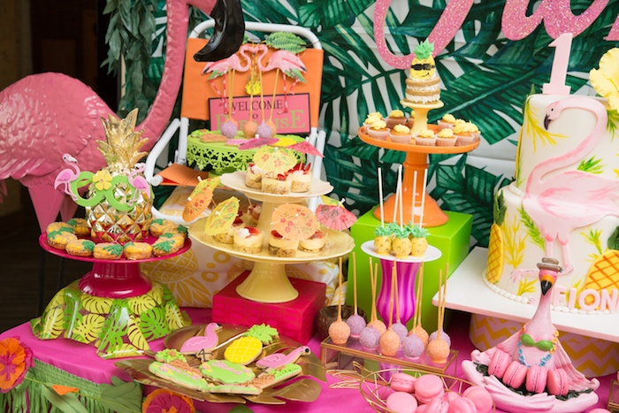 Desserts & sweets from a Tropical Flamingo Paradise Birthday Party on Kara's Party Ideas | KarasPartyIdeas.com (11)