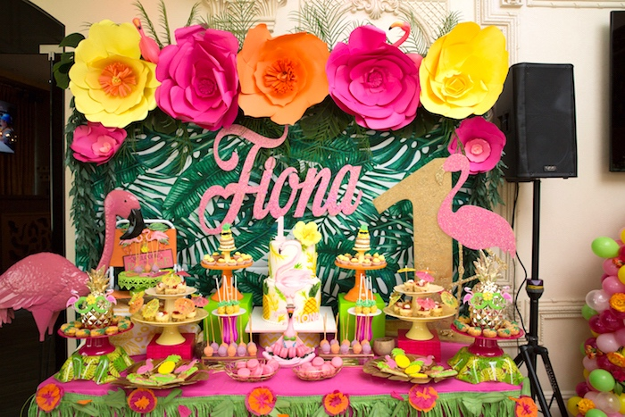 Kara's Party Ideas Tropical Flamingo Paradise Birthday ...