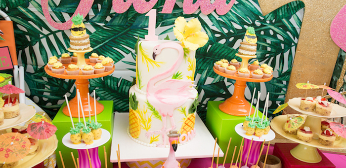 Tropical Flamingo Paradise Birthday Party on Kara's Party Ideas | KarasPartyIdeas.com (4)