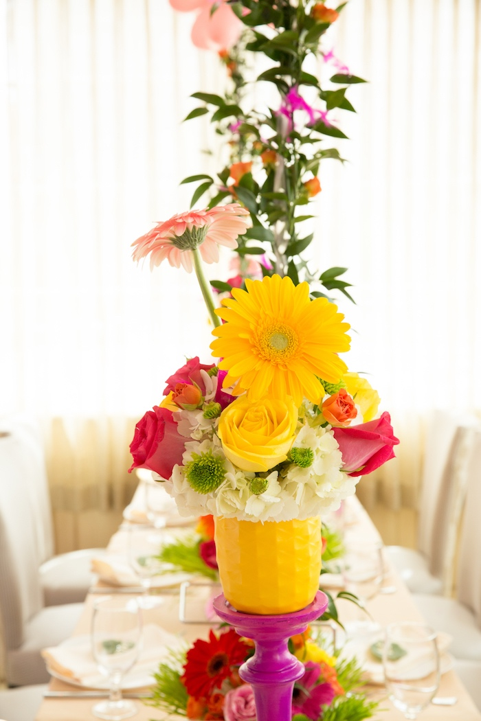 Blooms from a Tropical Flamingo Paradise Birthday Party on Kara's Party Ideas | KarasPartyIdeas.com (27)