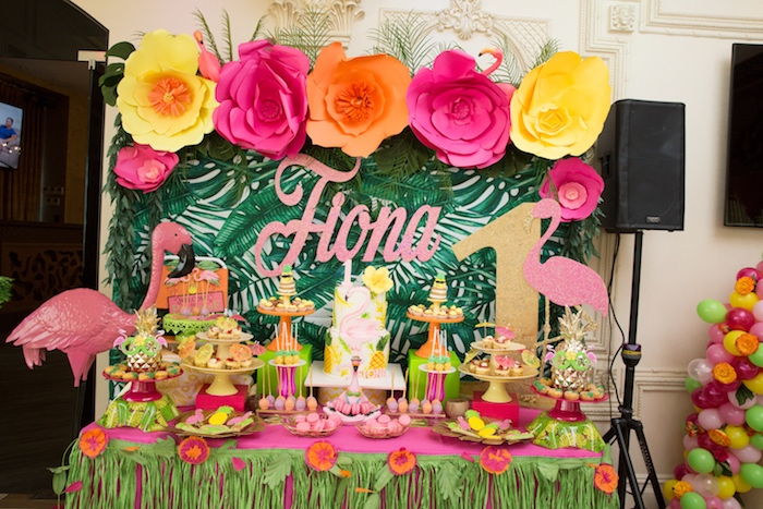 Kara S Party Ideas Tropical Flamingo Paradise Birthday