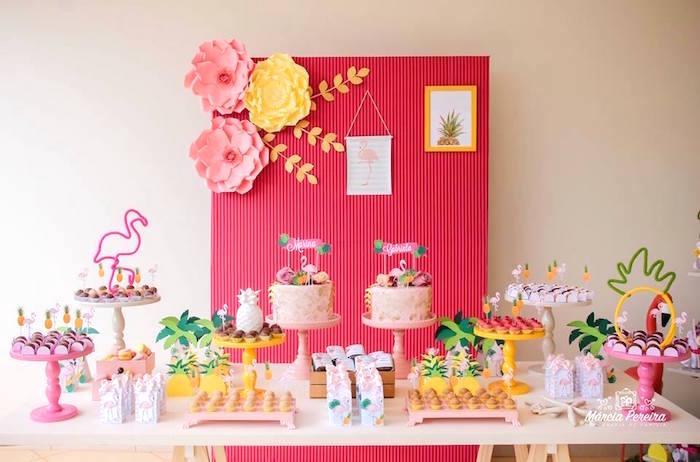 Tropical Flamingo Pool Party on Kara's Party Ideas | KarasPartyIdeas.com (11)