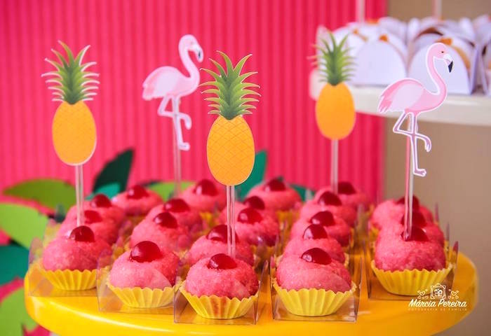 Sweets from a Tropical Flamingo Pool Party on Kara's Party Ideas | KarasPartyIdeas.com (9)