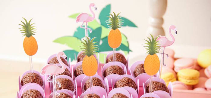 Tropical Flamingo Pool Party on Kara's Party Ideas | KarasPartyIdeas.com (1)