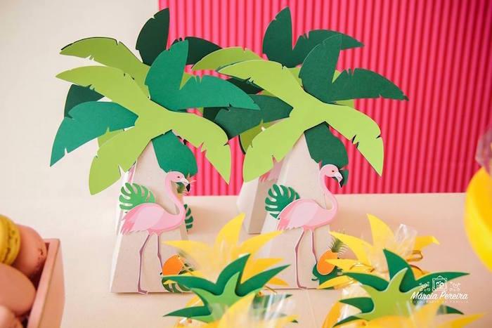 Palm tree box from a Tropical Flamingo Pool Party on Kara's Party Ideas | KarasPartyIdeas.com (25)