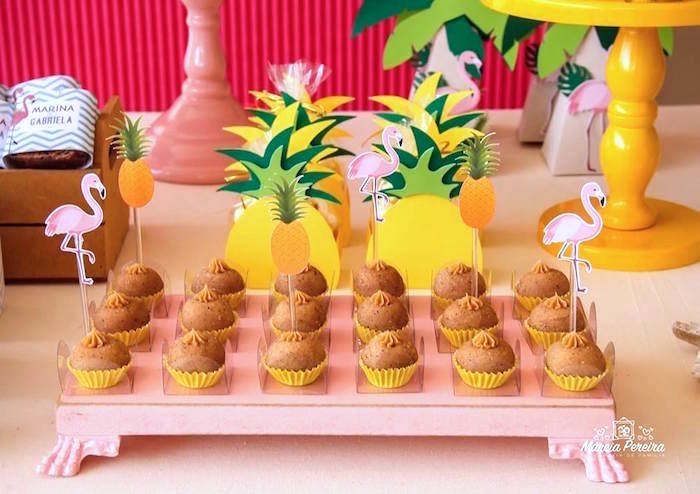 Sweets from a Tropical Flamingo Pool Party on Kara's Party Ideas | KarasPartyIdeas.com (23)