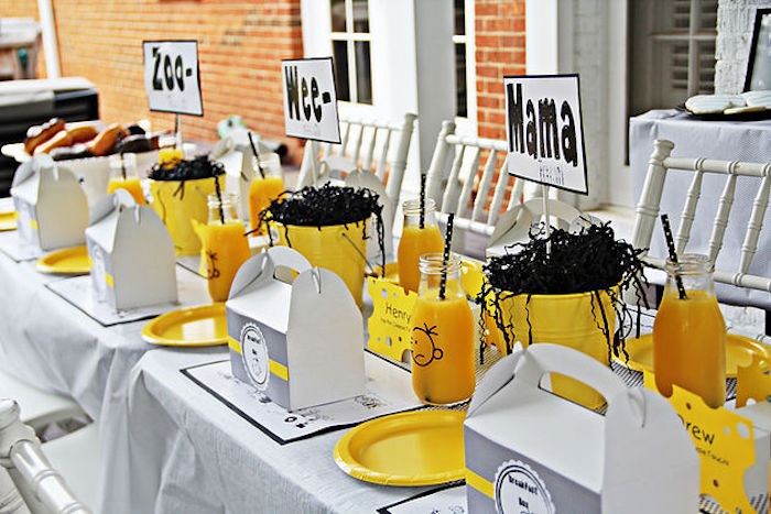 "Breakfast guest table from a ""Diary of a Wimpy Kid"" Party on KARA'S PARTY IDEAS 