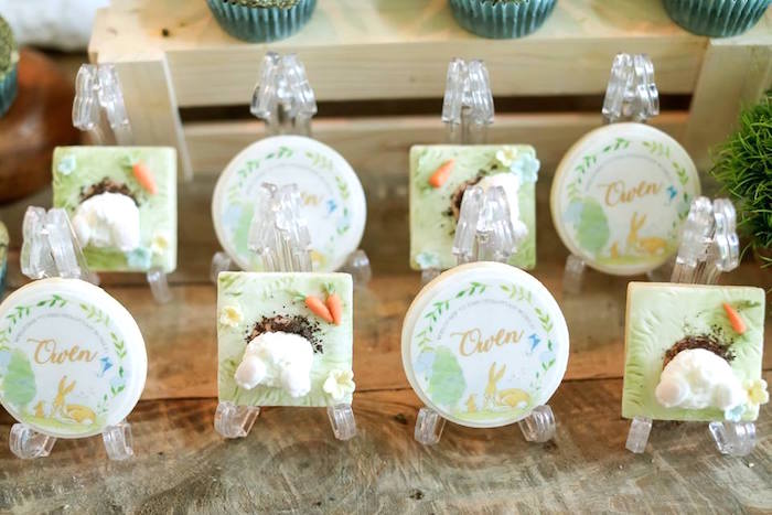 "Cookies from a ""Guess How Much I Love You?"" Baptism Party on Kara's Party Ideas 