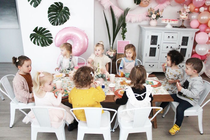 """Guest table from a """"Let's Fiesta"""" 2nd Birthday Party on Kara's Party Ideas 
