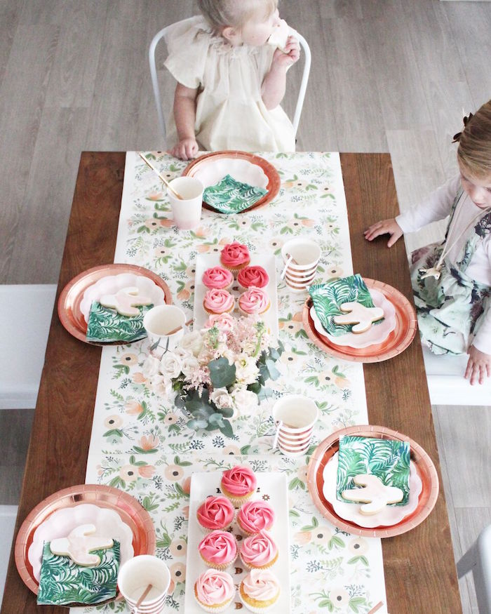 """Guest tabletop from a """"Let's Fiesta"""" 2nd Birthday Party on Kara's Party Ideas 