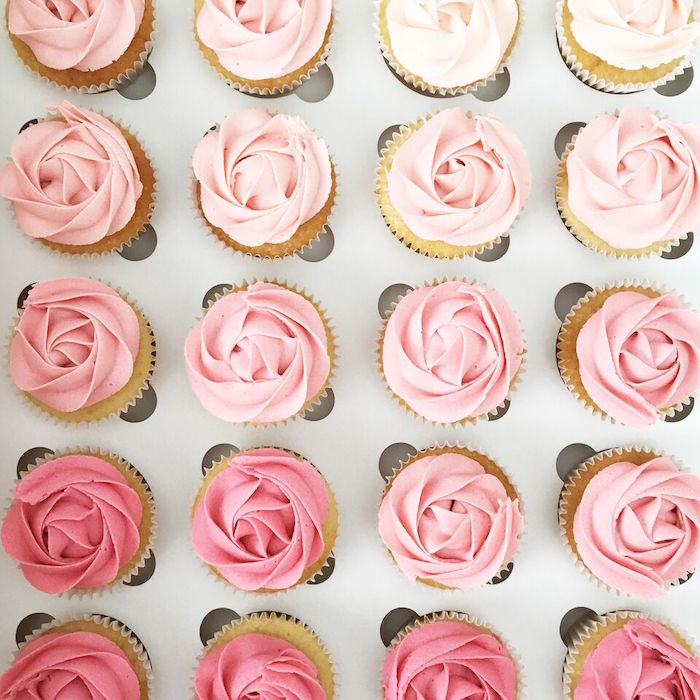 """Ombre cupcakes from a """"Let's Fiesta"""" 2nd Birthday Party on Kara's Party Ideas 