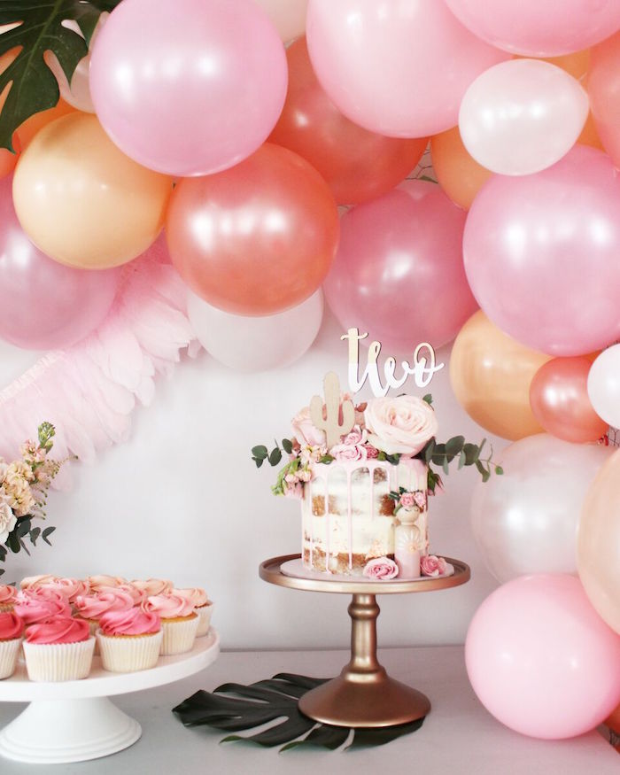 """Cake table from a""""Let's Fiesta"""" 2nd Birthday Party on Kara's Party Ideas 