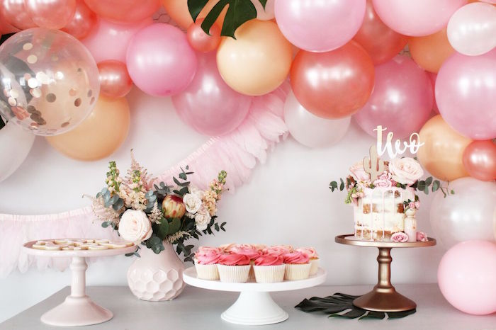 """Dessert table from a """"Let's Fiesta"""" 2nd Birthday Party on Kara's Party Ideas 