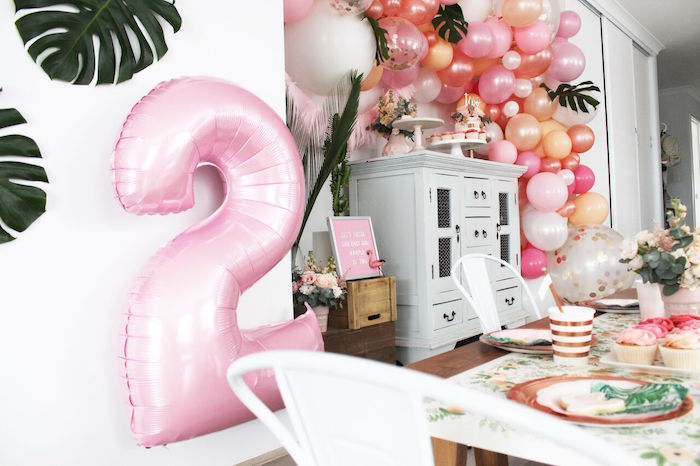 """Party tables from a """"Let's Fiesta"""" 2nd Birthday Party on Kara's Party Ideas 