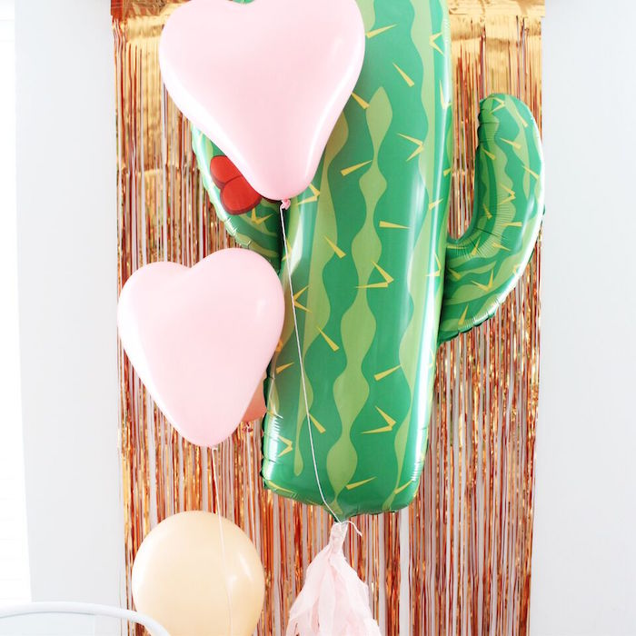 """Girly fiesta photo wall from a """"Let's Fiesta"""" 2nd Birthday Party on Kara's Party Ideas 