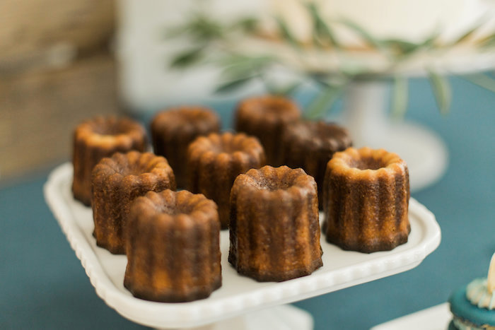 """Mini bundt cakes from a """"Love You to the Moon"""" Rustic Baby Shower on Kara's Party Ideas 