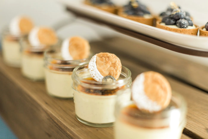 """Moon topped dessert cups from a """"Love You to the Moon"""" Rustic Baby Shower on Kara's Party Ideas 