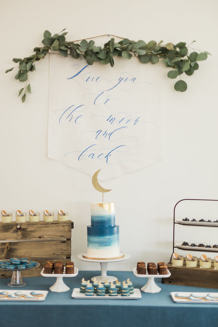 Love You To The Moon Rustic Baby Shower On Karas Party Ideas