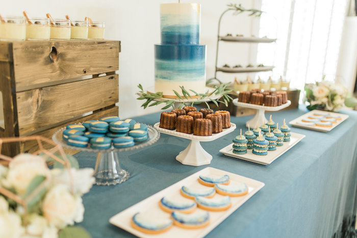 """Dessert spread from a """"Love You to the Moon"""" Rustic Baby Shower on Kara's Party Ideas 