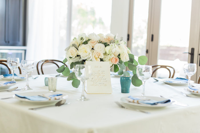 """Guest table from a """"Love You to the Moon"""" Rustic Baby Shower on Kara's Party Ideas 