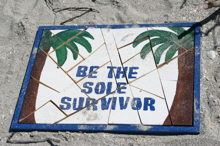 "Tile puzzle from a ""Survivor"" Themed Summer Party on Kara's Party Ideas 