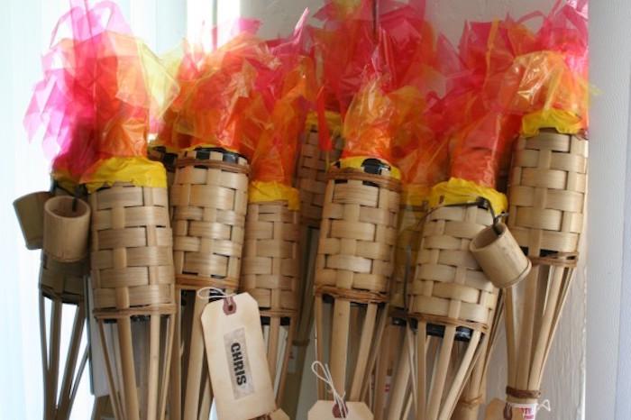 "Survivor torches from a ""Survivor"" Themed Summer Party on Kara's Party Ideas | KarasPartyIdeas.com (10)"