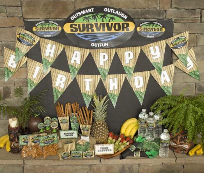 """Survivor"" Themed Summer Party on Kara's Party Ideas | KarasPartyIdeas.com (8)"