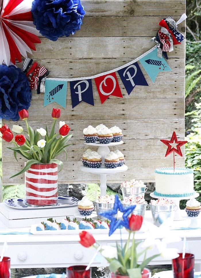 """Sweet Liberty"" July 4th Celebration on Kara's Party Ideas | KarasPartyIdeas.com (23)"