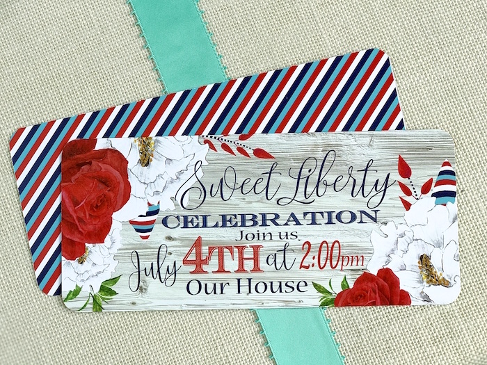 "Party Invite from a ""Sweet Liberty"" July 4th Celebration on Kara's Party Ideas 