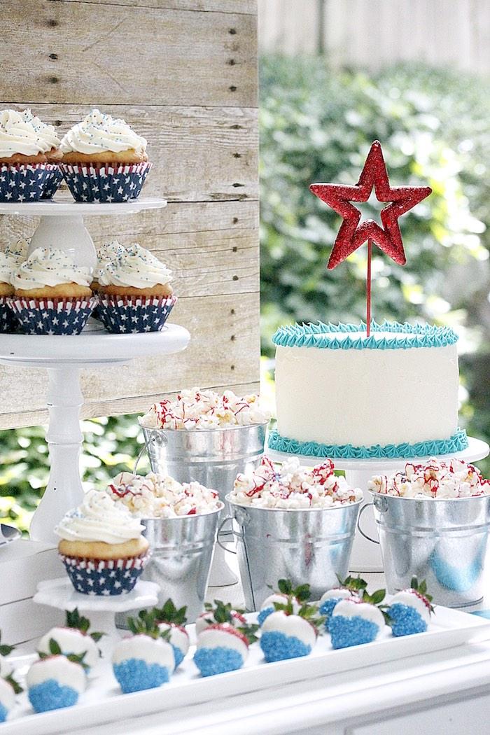 """Sweet Liberty"" July 4th Celebration on Kara's Party Ideas | KarasPartyIdeas.com (20)"