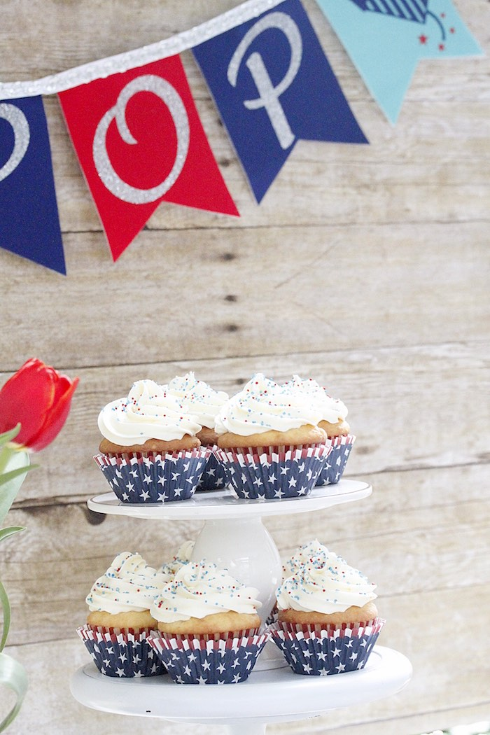 "Cupcakes from a ""Sweet Liberty"" July 4th Celebration on Kara's Party Ideas 